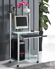 Custom Tempered Modern Glass Computer Desk For Small Spaces (DX-G015)