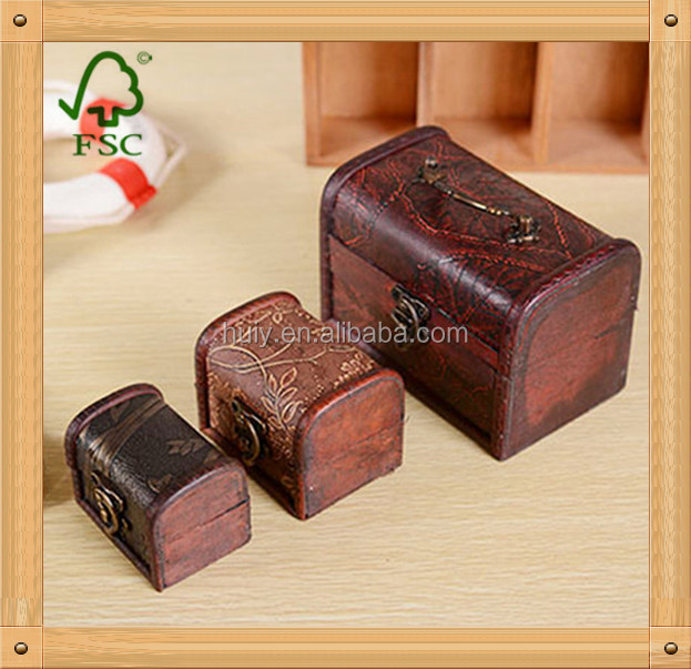 Wholesale cheap solid wood wooden treasure chest jewelry for Solid wood jewelry chest