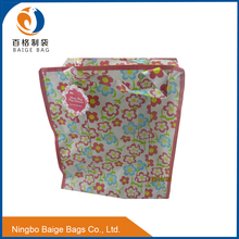 free sample reusable foldable laminated non woven shopping tote bag with zipper