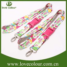 Cheap customized printed neck lanyards no minimum order