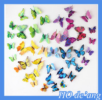 Hogift For 5d Layered Pages Chipboard kid room sunboy art wallpaper home decor decal 3d flower butterfly pvc wall sticker