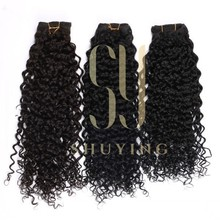 Remy Malaysian Hair long curly clip in human hair extension