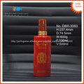 500ml pulverização de licor garrafa de vidro