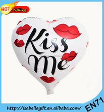 Valentines design wholesale different size aluminium foil balloon