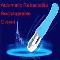 100% waterproof G-spot Vibrator Adult Sex Supplies Masturbation Device Machine Automatic Retractable vibrator Sex toy for Women