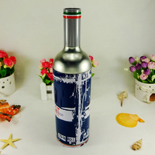 High-end round wine packaging wine metal tin box