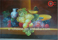 Handmade oil painting with fruit glass painting design