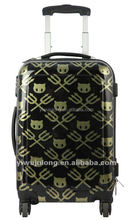 ABS/Pc Cat&Fork Printed Luggage bags, cute trolly case
