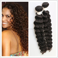 Best quality virgin hair unprocessed wholesale indian deep wave human hair for braiding