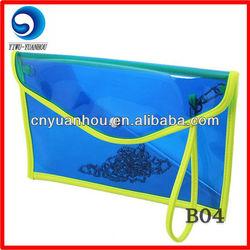 fashion envelope clear pvc clutch bag