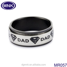Dongguan factory high quality fashion spinner stainless steel ring , jewelry