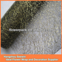 Black Flower Wrapping Decorative Mesh