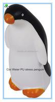 6.4x5.5x12cm promotional gift PU penguin stress ball/personalized PU material foam penguin/PU anti stress penguin for kids toys