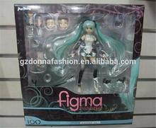 Anime Figma 100 Hatsune Miku Append figura de acción de juguete en caja muñeca títere acción Serie Vocaloid colección del regalo