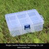 Heavy Duty 6 Compartments Transparent Plastic Box Jewelry Bead Storage Container Craft Organizer