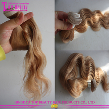 Return policy 100 % virgin indian skin weft tape remy hair extensions #27 skin weft