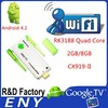 1080P Supported Quad-core Android 4.2 Mini Tv Dongle