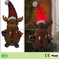 Christmas led deer polyresin decoration solar garden light