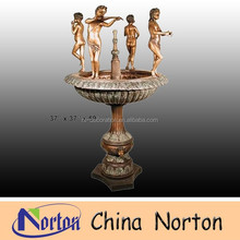 nude children statue large bronze water fountain NTBF-C065S