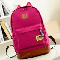 China Factory Canvas School Backpack Bag Student School Bag