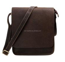 New Arrival In Jun Real Leather Factory Price Men's Dark Brown Crossbody Messenger Bag Design Sling Bag 7239R-1