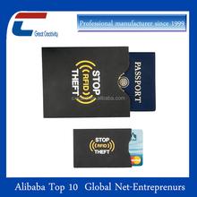 Anti rfid hacking rfid blocking credit card sleeves rfid sleeves for credit cards