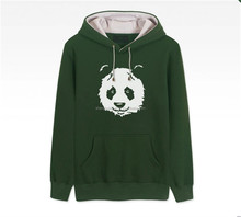 2015 custom high quality autumn design a green awesome college hoodies for men