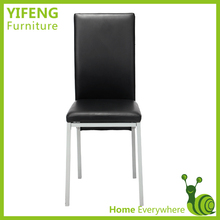 Modern Leisure Safety Black PVC Dining Chairs