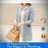 knitted female sweater of polyester fibers