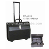 PU pilot trolley laptop case for business