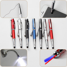 Wedding Gift Pen 5 In 1, Gift Stylus Pen With LED Laser Pointer And UV Money Detector