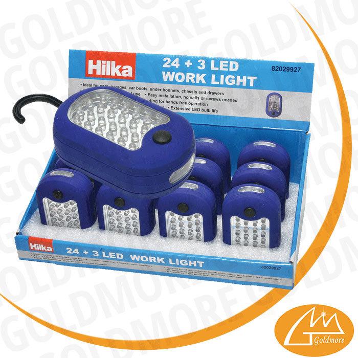 light buy battery powered led work light led flashlight with hook. Black Bedroom Furniture Sets. Home Design Ideas