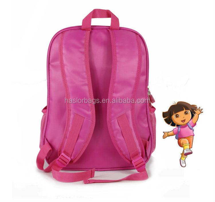 Jolie fille de bande dessinée motif. 3d sac d'école pour les filles