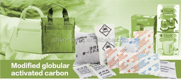 Tyvek paper packed sachet granule activated carbon