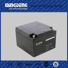 Pakistan market deep cycle solar battery 12v 24ah