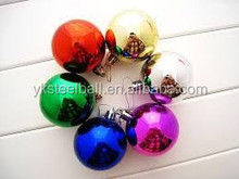 Yuanke Branded new style christmas plating painting plastic ball