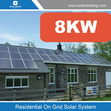 Solar photovoltaic modules electrically connected and mounted on a supporting structure 8kw for residential and commercial solar