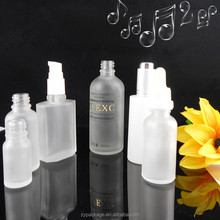 Good! 60ml white glass frosted serum bottle for cosmetic serum, liquid, water, essential oil, beard oil