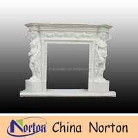 indoor used marble fireplaces NTMF-F4451R