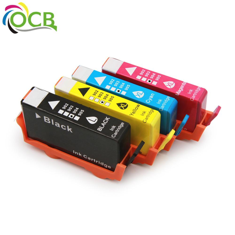 Ocbestjet 4 unidades para HP 904 cartucho de tinta remanufacturado para impresora HP OfficeJet Pro 6970 Impresora Todo-en-uno (A