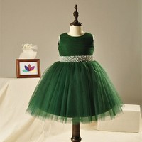 Latest Design Blue Sleeveless Lace Party Dress Baby Girl Party Dress Children Frocks Designs