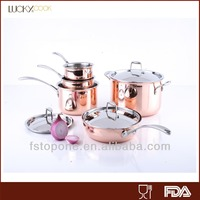 3ply stainless steel copper bottom cookware