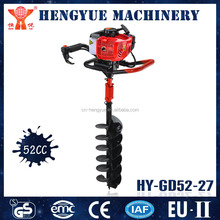 manual hand drilling machine earth auger tree transplanter to enhance the survival rate of trees
