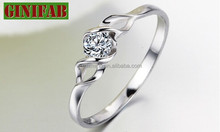 2015 new style 925 sterling silver rings with CZ stone wedding ring fashion diamond for women