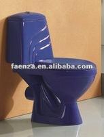 Cobalt blue color toilet