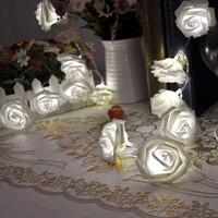Rose Flower Fairy String Lights 20LED Garden Party Wedding flower decoration flower