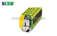 15.2mm Plastic Ground Din Rail Terminal Blocks For Electric Power UL CE termin block