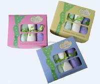 "Face Washer 100% Bamboo Washcloth 10""x10"" Baby Face Towel"