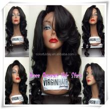 150% Density Peruvian Virgin Full Lace Wig Big Curl Bleached Knots For Black Women
