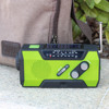 Hight Quality AM/FM/NOAA solar dynamo flashlight with radio